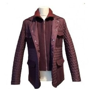 Etro Burgundy Patterned Casual Jacket 1S301