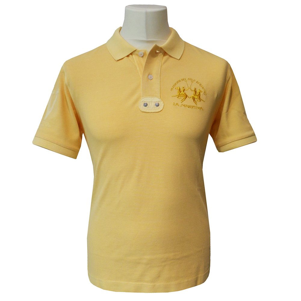 la martina slim fit polo shirt in yellow bmp307. Black Bedroom Furniture Sets. Home Design Ideas