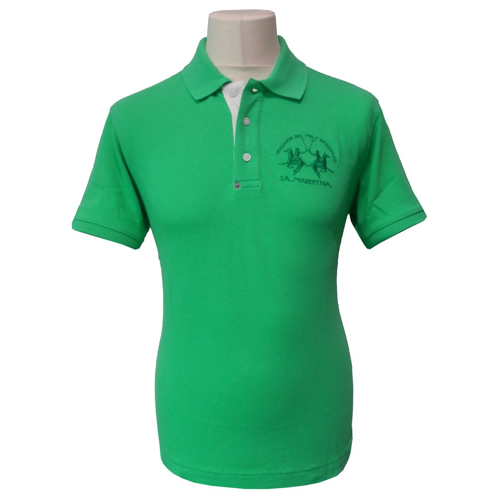 la martina slim fit piquet polo shirt in green bmp007. Black Bedroom Furniture Sets. Home Design Ideas