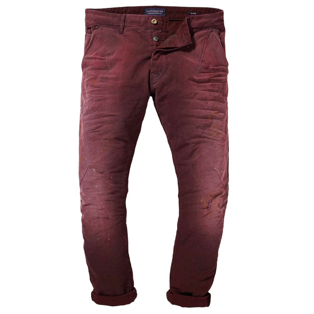 scotch and soda raze slim fit tapered jeans in burgundy 13060685053. Black Bedroom Furniture Sets. Home Design Ideas