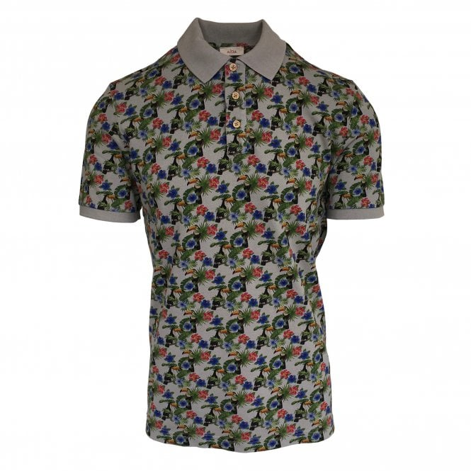 Altea Beige Short Sleeve Polo with Toucan Print