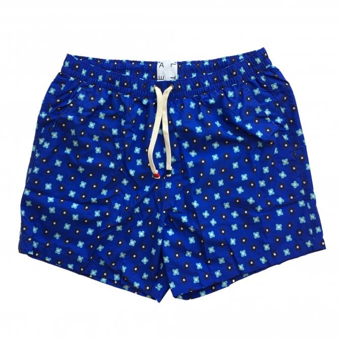 Altea Blue Flower Print Swimming Shorts