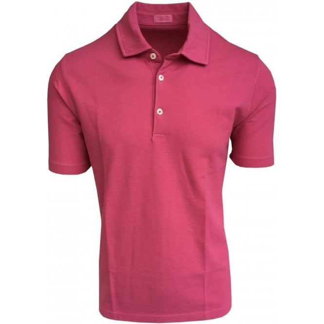 Altea Cerise Pink Short-Sleeve Polo Shirt 1855100 81