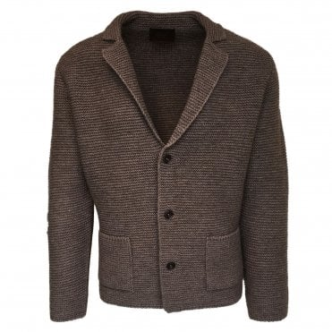 Altea Chunky Light Brown Knitted Cardigan