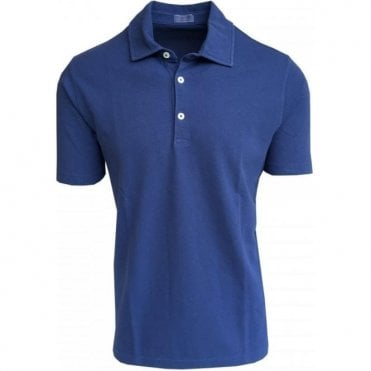 Altea Denim Blue Short-Sleeve Polo Shirt 1855100 6
