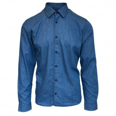 Altea Indigo Cotton Shirt