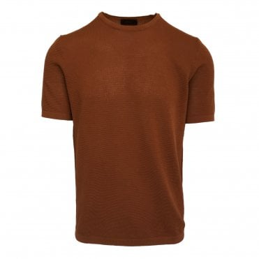 Altea Orange Knitted Short Sleeve T-Shirt