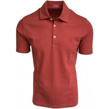 Altea Poppy Red Short-Sleeve Polo Shirt 1855100 73