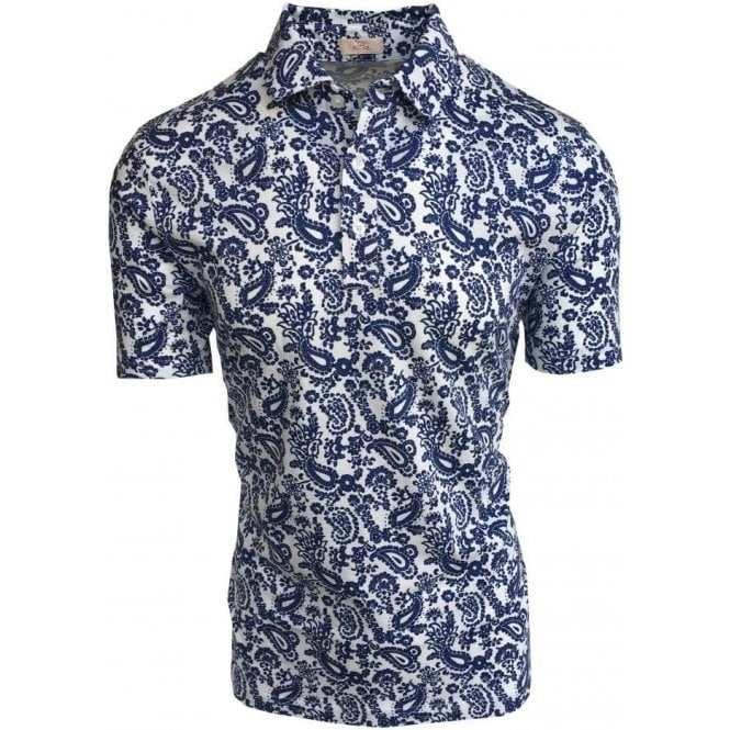 Altea Stampa Smith Jersey White Polo Shirt With Paisley Print 1855063 30