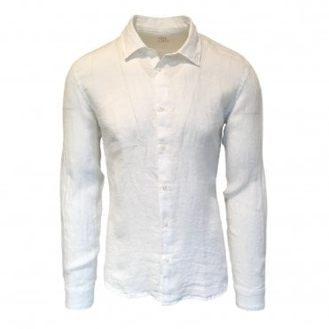 Altea White Italian Linen Shirt