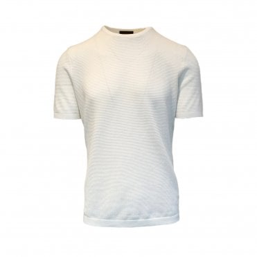Altea White Knitted Short Sleeve T-Shirt