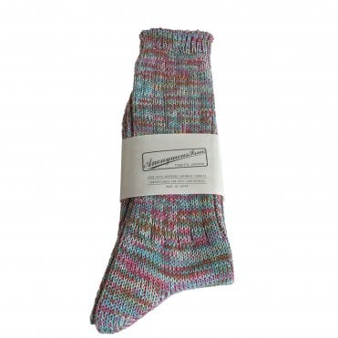 Anonymousism Pink & Blue Melange Socks