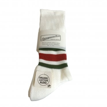 Anonymousism White Striped Organic Socks