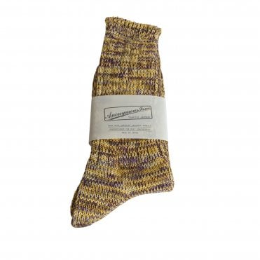Anonymousism Yellow & Purple Melange Socks