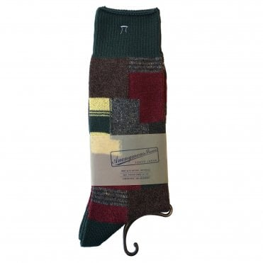 Anonymousism Multicolour Patchwork Socks