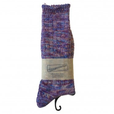 Anonymousism Purple & Burgundy Melange Socks