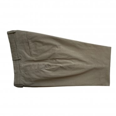 Briglia Khaki Chino with Turn-Up Finish