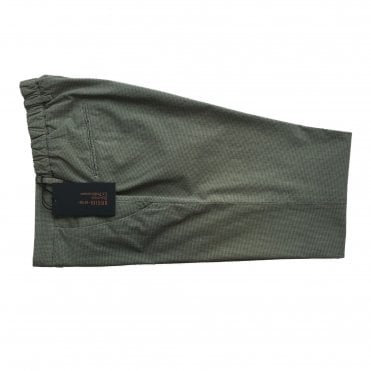 Briglia Khaki Green Checked Chino with Turn-Up Finish