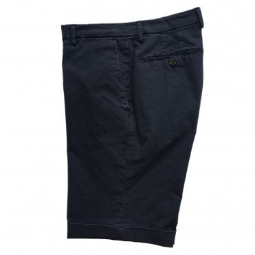 Briglia Navy Shorts with Turn-Up Finish