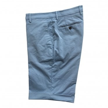 Briglia Sky Blue Shorts with Turn-Up Finish