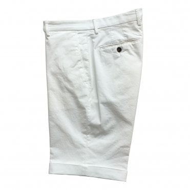 Briglia White Shorts with Turn-Up Finish
