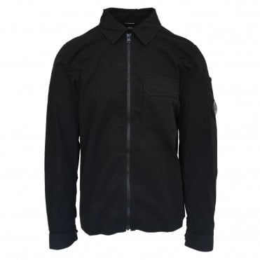 C.P. Company Black Cotton Gabardine Overshirt