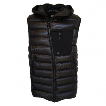 C.P. Company Black Gilet with Goggle Hood