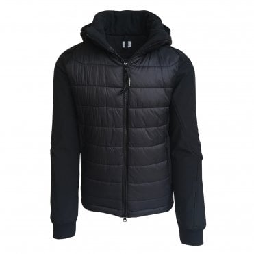 C.P. Company Black Quilted Goggle Shell Jacket