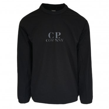 C.P. Company Black Technical Sweatshirt Logo Print