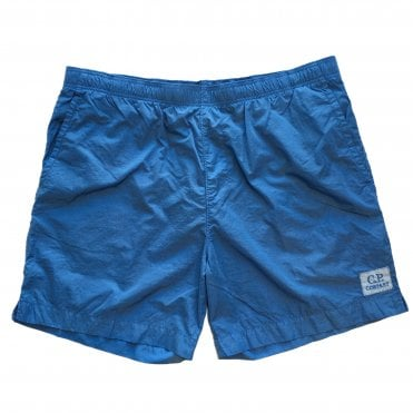 C.P. Company Blue Chrome Nylon Swim Shorts