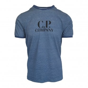 C.P. Company Blue Striped Crewneck T-Shirt