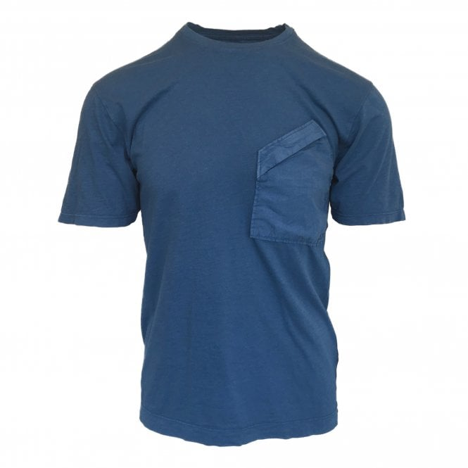C.P. Company Blue Zip Pocket Crewneck T-Shirt