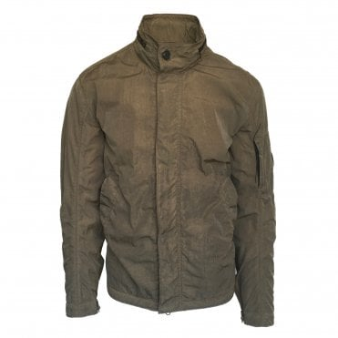 C.P. Company Khaki Green Chrome Goggle Hooded Overshirt