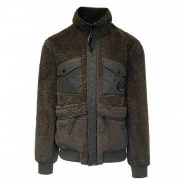 C.P. Company Military Green Fleece Jacket