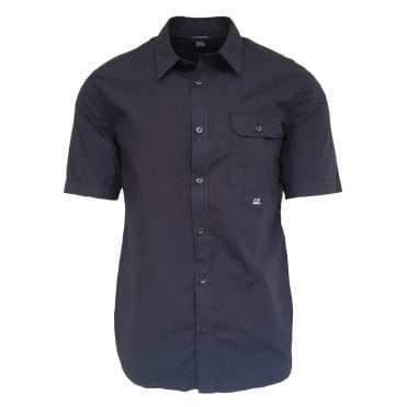 C.P. Company Navy Blue Short-Sleeve Shirt