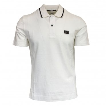 C.P. Company White Polo Shirt
