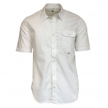 C.P. Company White Short-Sleeve Shirt