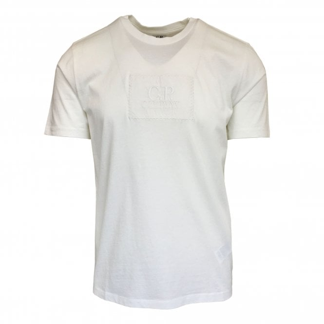 C.P. Company White T-Shirt with Label Logo