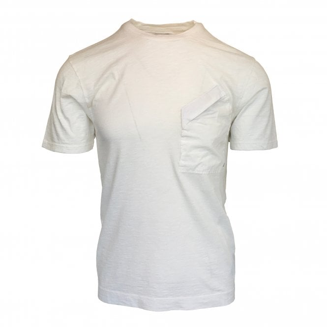 C.P. Company White Zip Pocket Crewneck T-Shirt