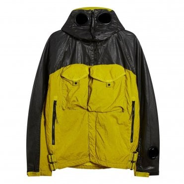 C.P. Company Yellow & Black Contrast Quartz Full Zip Goggle Jacket