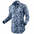 Circle Of Gentlemen CANVIS Printed Shirt in Blue. 05736