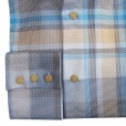 Circle Of Gentlemen Ricker Check Shirt in Blue. 04386