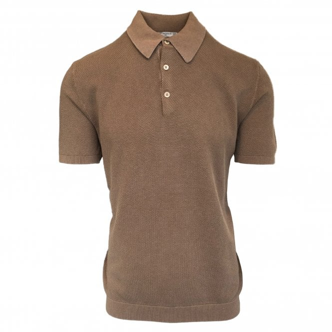 Circolo 1901 Beige 'Punta' Knitted Polo
