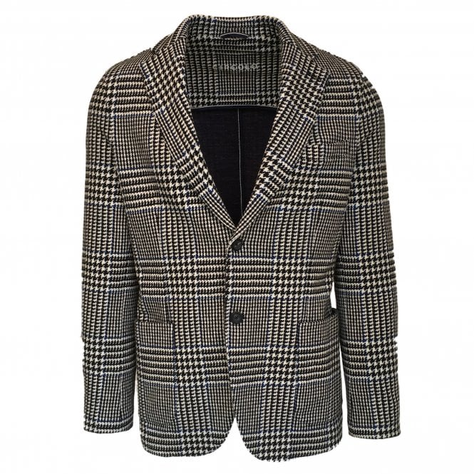 Circolo 1901 Black and White Check Stretch Jersey Jacket