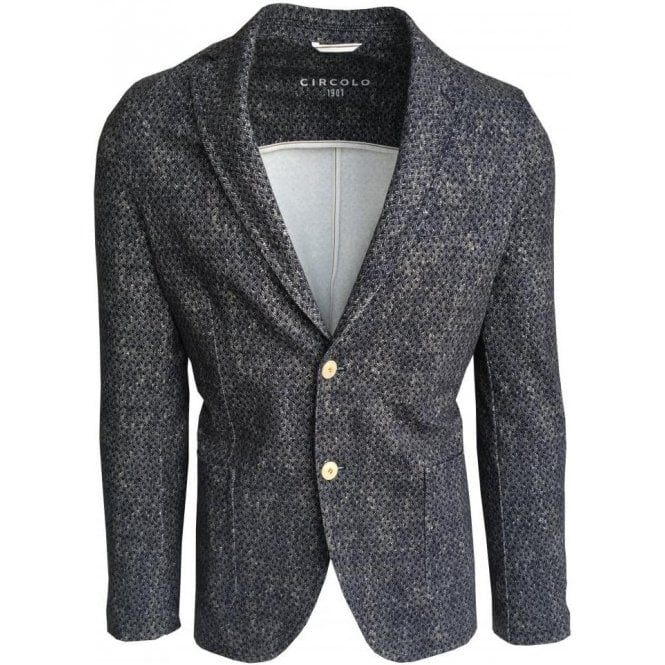 Circolo 1901 Blue Herringbone Stretch Sports Jacket CN1853