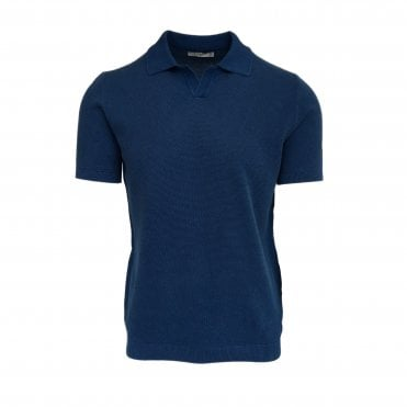 Circolo 1901 Blue Knitted Polo