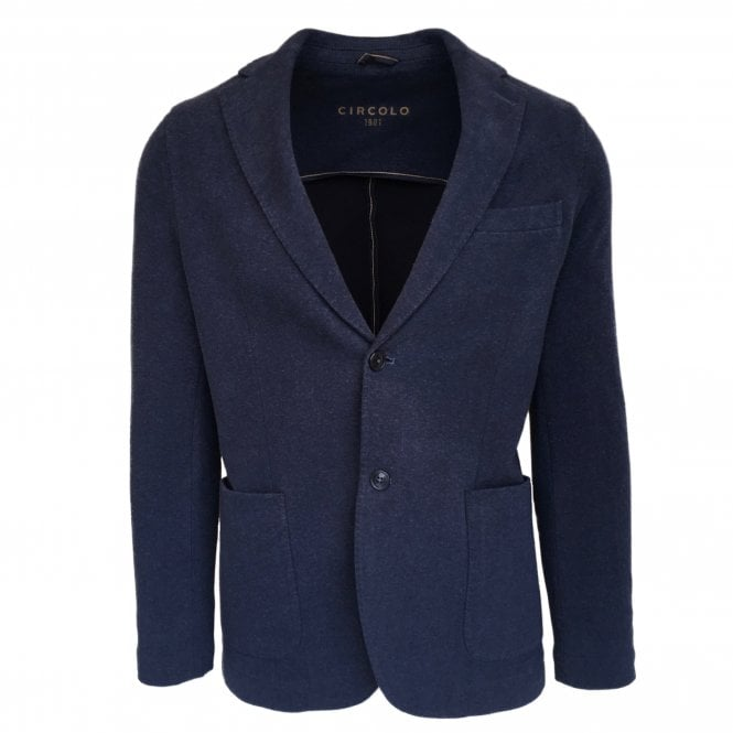 Circolo 1901 Blue Stretch Jersey Jacket