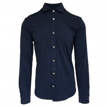 Circolo 1901 Blue Stretch Jersey Shirt