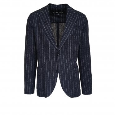 Circolo 1901 Blue Striped Linen Jacket