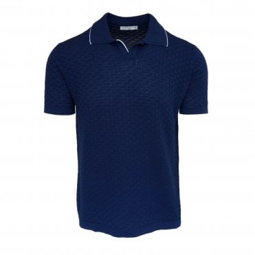 Circolo 1901 Blue Textured Polo
